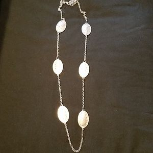 Jewelry - Distressed Silver medallion necklace